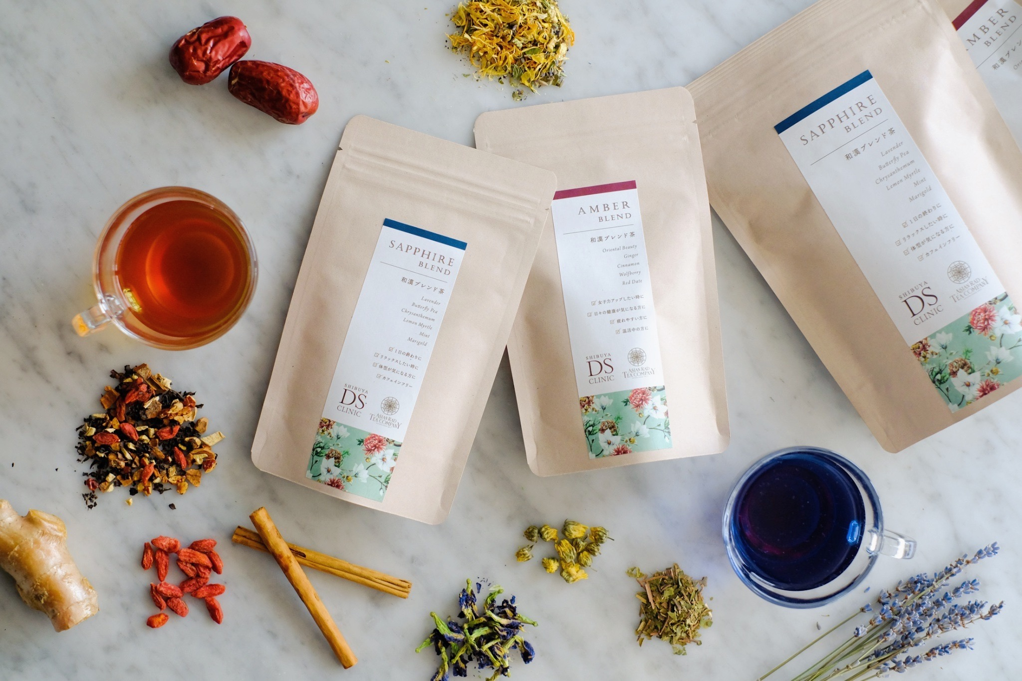 『ASIAN RAD TEA COMPANY』と『渋谷DSクリニック』の漢方薬剤師が、 美味しくて内側から美しくなる和漢ブレンド茶を共同開発