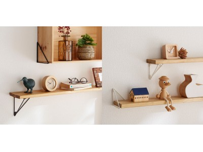 壁に木材や木箱を取り付けウォールシェルフが作れる、三角形フレームが新発売