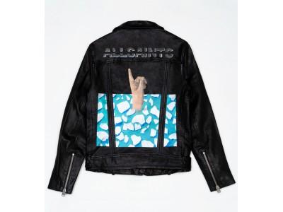 オールセインツがとんだ林蘭さんとコラボレートした世界に一着だけのレザージャケットを展示販売!