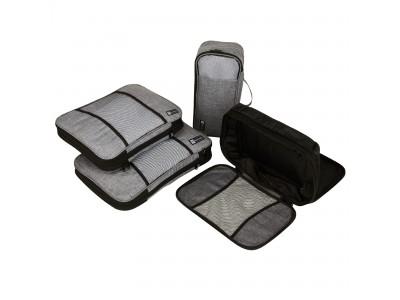 ジッパーで簡単に衣類を圧縮!スーツケース内衣類スペースを最大40%節約!大容量「ノマド圧縮バッグセット」が国内クラウドファンディングGREEN FUNDINGで先行販売開始!