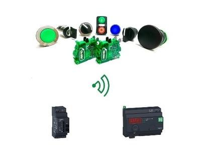 シュナイダーエレクトリック、配線レス・バッテリーレスの無線スイッチにビジュアルフィードバックオプションを追加販売