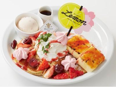~幸せの食感!新しいパンケーキに出会える、パンケーキ専門店「Butter」~ 桜をふんだんに使用した春を感じる華やかな限定パンケーキが新登場! 『Butter 春らんまんフェア』スタート