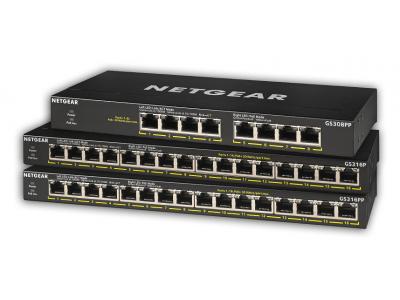 SOHO/家庭向けのギガビットスイッチ「GS300」シリーズに、PoE+対応の4製品「GS308PP」「GS316P」「GS316PP」「GS324P」を追加。