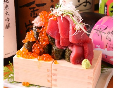 海の幸、半端ないって!いくらもマグロもこぼれ出す!海鮮こぼれ寿司!1,000円→1円!