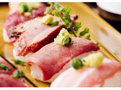 黒毛和牛祭り♪黒毛和牛ステーキ&炙り寿司&ローストビーフの食べ放題と飲み放題が付いて3980円でご提供♪