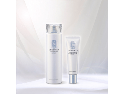 光、放つ。乾かない美白(※1)。ジェノマーより薬用美白化粧水、UVクリーム誕生。