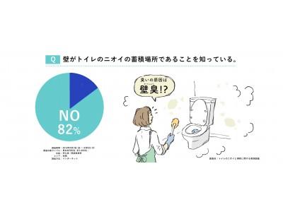 """掃除しても取れない""""あのニオイ""""の正体は""""壁""""にあり!? 82%が嫌なニオイの染み着き原因を「トイレの壁」と認識せず"""