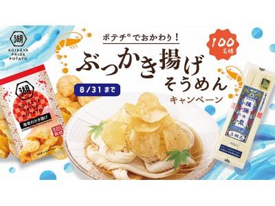 KOIKEYA PRIDE POTATO海老のかき揚げ 発売記念ポテチ(R)でおかわり!ぶっかき揚げそうめんキャンペーン