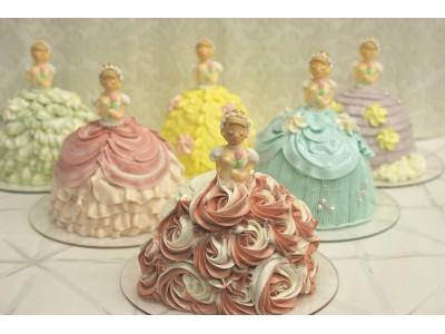 甘いクリームのドレスが可愛いプリンセスのケーキを予約販売