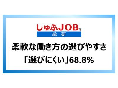 【アフターコロナのGDP増加は労働力確保が鍵?!働く主婦に聞く、柔軟な働き方の選びやすさ】「選びにくい」68.8%