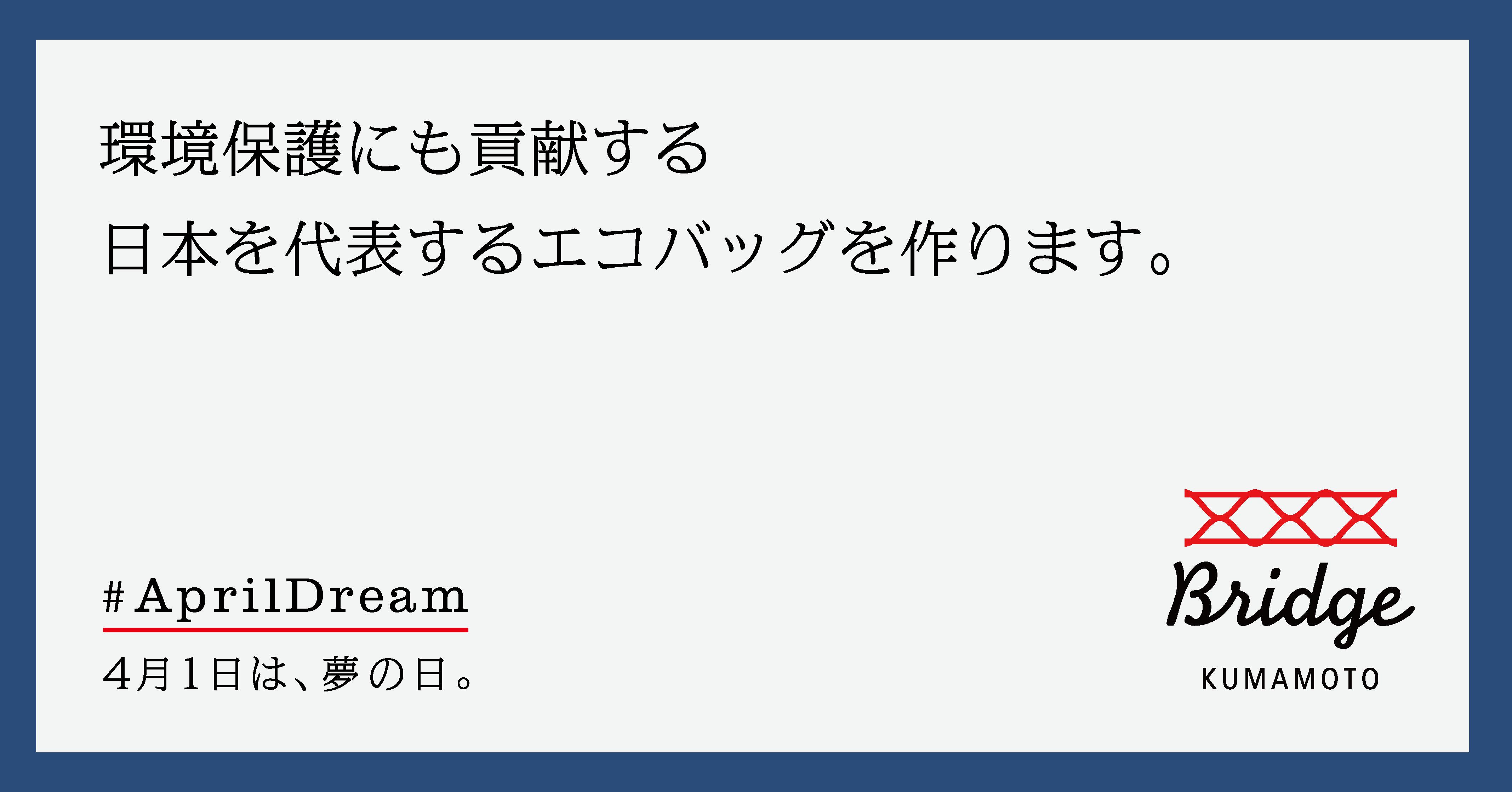 環境保護にも貢献する日本を代表するエコバッグを作ります。 画像