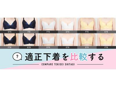 肉質、授乳経験、年代でバストラインの違いを比べられる「適正下着(R)を比較する」をリリース