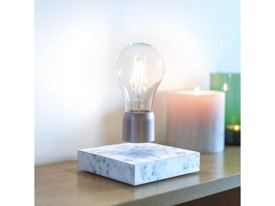 電球が浮きます!大理石模様が美しい、インテリアに映える「PÆR レビテーティング・ライト」を自社ECで販売開始