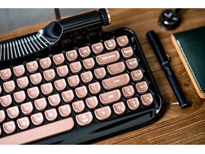 【再入荷!】Vinpok「Rymek」タイプライター風レトロデザインと先進技術が融合!新しくて懐かしいモバイルキーボード!