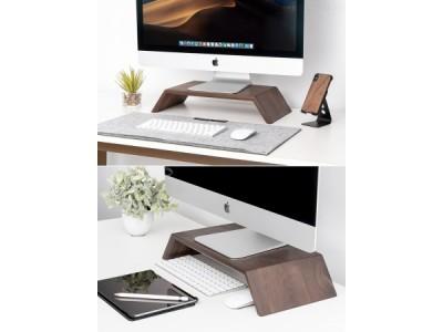 【再入荷しました!】「Oakywood 木製モニタースタンド」iMacを最適な高さに調整できる! 洗練された外観のデスクトップスタンド!【人気製品!】