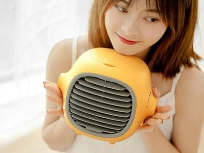 【入荷しました!】HBLINK レモン型加湿扇風機 WT-F25【USB-C・気化熱で冷却・保湿でお肌ケア・空気清浄・低騒音】