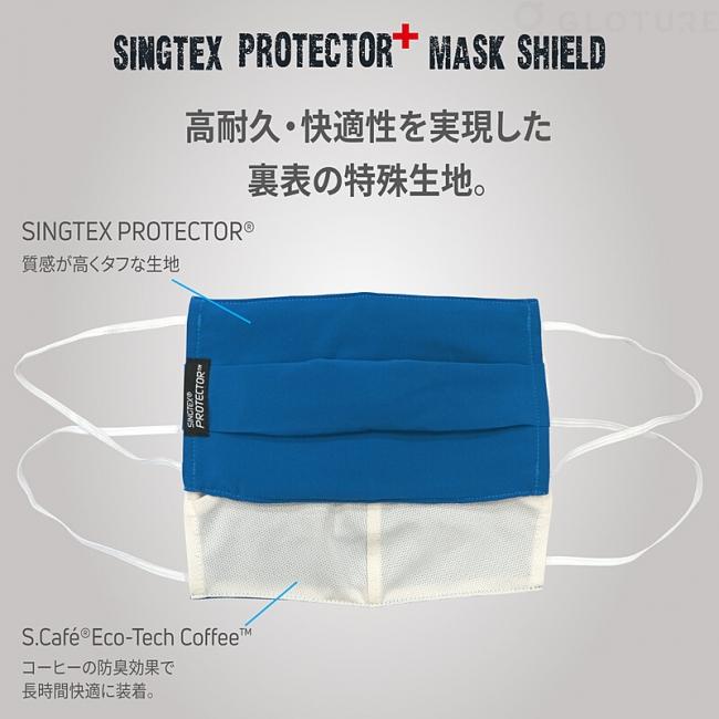 【 感染症対策 を 応援!】ハイテクマスクカバー「SINGTEX PROTECTOR+」購入で「柔らか立体マスク」または「LECOMM FFP2 快適マスク」が半額に!【8/18まで】