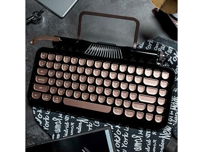 【再入荷しました!】「Rymek タイプライター風メカニカルキーボード」タイプライター風デザインと先進技術が融合!【iPhone・Android・Windows・Mac対応】