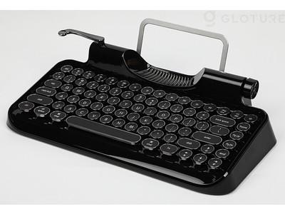 【入荷しました!】Rymek Full Black Edition ビンテージ タイプライター風メカニカルキーボード【iPhone/Android/Win/Mac対応】