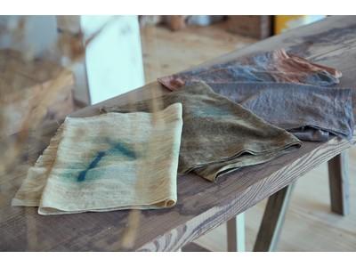 エシカルセレクトショップ「カーサフライン」が長野県の染色家・佐渡勝行氏とコラボレートした植物染めの手ぬぐいを1月28日(木)より発売