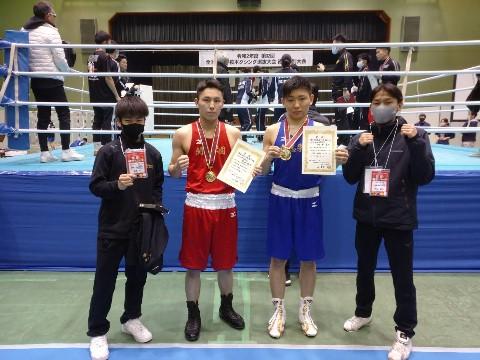【開志学園高等学校】ボクシング部 全国高等学校ボクシング選抜大会(徳島特別大会)2階級優勝!