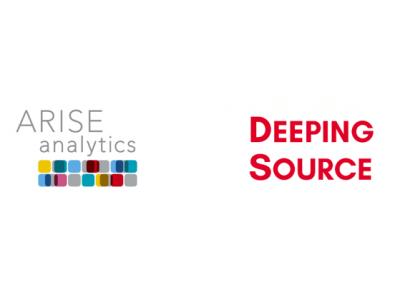 ARISE analytics、「KDDI Open Innovation Fund 3号 AI Fund Program」の出資先であるDeeping Source Inc.との協業を開始