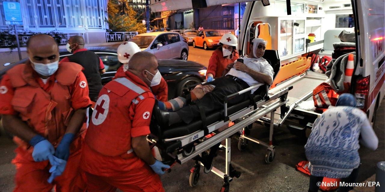 レバノンの首都ベイルートで発生した大規模爆発災害支援の受け付けを開始します