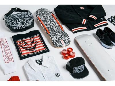 ストリートアートの先駆け的アーティスト KEITH HARING(キース・へリング)と、人気スケートボードブランド ELEMENT による注目のコラボストアが渋谷にオープン!