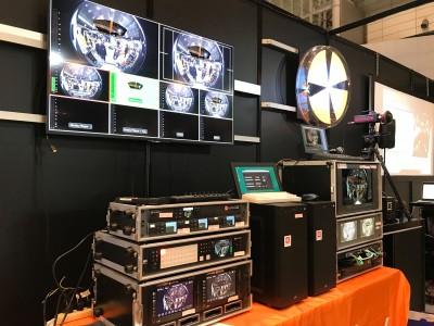映像やデジタルデータを8KVR映像内に配信できるリアルタイム処理システムを構築、Inter BEE併催DCEXPO2019で展示中