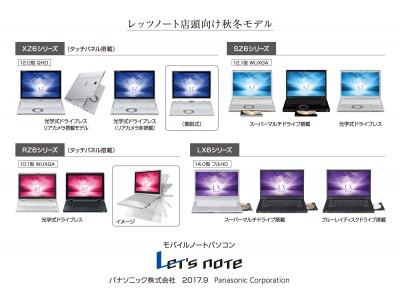 モバイルパソコン「Let's note」 個人店頭向け 秋冬モデル発売
