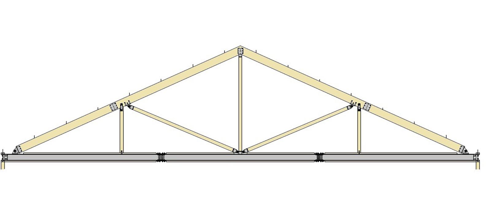 テクノストラクチャー専用のトラス系屋根フレーム構造 ...