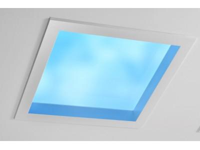 天窓を人工的に再現する空間演出システム「天窓照明」を開発