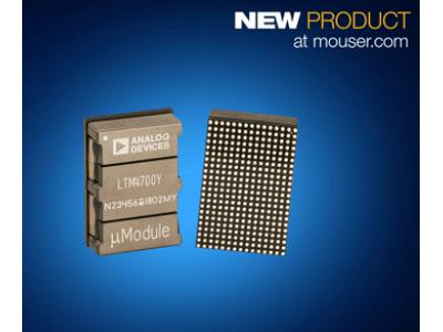 マウザー、アナログ・デバイセズ社のLTM4700 µModuleレギュレータの取り扱いを開始