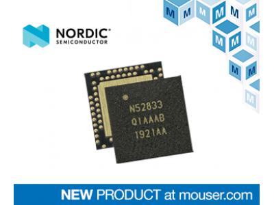 マウザー、プロ仕様照明の高温に対応する、Nordic社製マルチプロトコルSoC「nRF5283」の取り扱いを開始