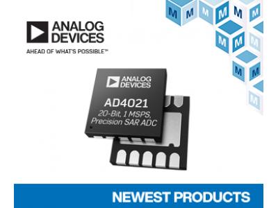マウザー、アナログ・デバイセズ社の低消費電力、差動SAR A/Dコンバータ「AD4021」および「AD4022」の取り扱いを開始
