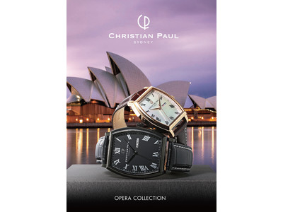 シドニーのウォッチブランド「クリスチャンポール」から、オペラハウスをモチーフにした「OPERAコレクション」発売 モダンクラシックなトノー型ウォッチが新登場!