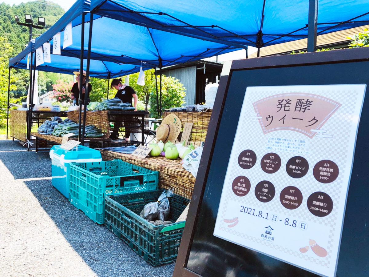 地元農家が出店する「発酵縁日」や発酵を知るワークショップ。おふろcafe 白寿の湯で8/5発酵の日に合わせたイベントを開催