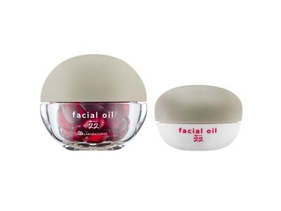 【美容オイル発売】1回使い切りカプセルの新鮮なオイルで、不足した油分を補い、美しいツヤをまとったハリ肌へサポートする「フェイシャルオイル22」12月1日(火)新発売。
