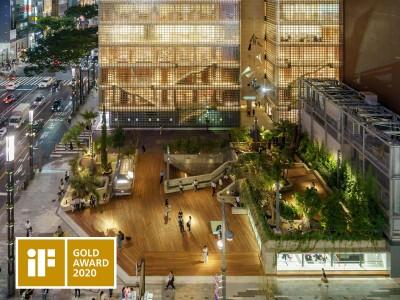 Ginza Sony Parkが世界三大デザイン賞のひとつ「iF Design Award 2020」でソニー初となる建築分野での最高位「金賞」を受賞