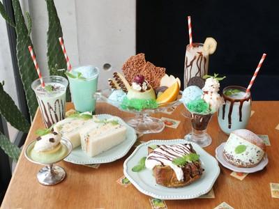 パンとエスプレッソとの姉妹店「旬゛喫茶トサボリパーラー」がチョコミント祭をスタート!