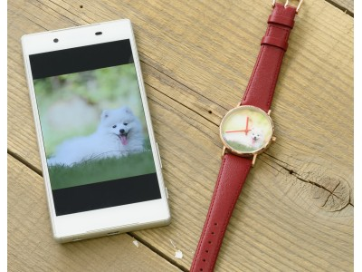 スマホの写真を文字盤にカスタムできるオーダー腕時計を発売