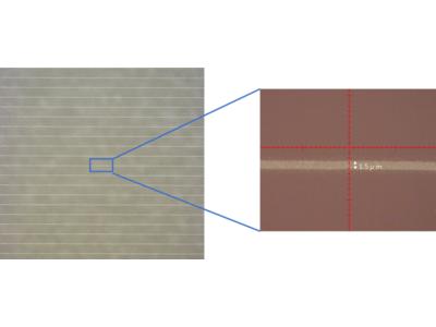 銀ナノインク「Picosil(R)」を用いた低温プロセスでの超細線描画に成功