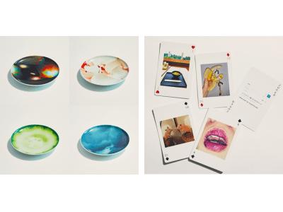 とんだ林蘭が手掛けるブランド「MAD FRUITS」から鮮やかなフォトプリントの有田焼のお皿と、フォトアーカイブがプリントされたトランプが新発売!