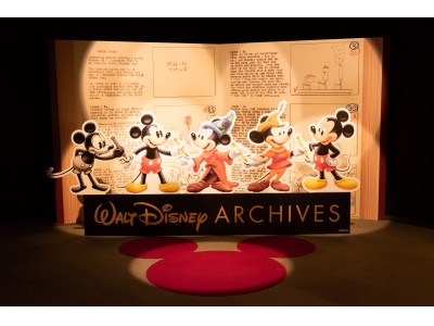 """暑い夏の""""涼しい""""おでかけスポット 開催から5日で早くも来場者数14,000人突破! 「ウォルト・ディズニー・アーカイブス展~ミッキーマウスから続く、未来への物語~」開催中"""