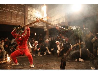 幸せの火の粉を浴びよう!天念寺の伝統的な火祭り「修正鬼会」の再現&伝統芸能ライブを開催(11/30・大分...