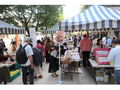 京橋マルシェ@東京スクエアガーデン、毎月第一土曜日と第三火曜日の定期開催がスタート