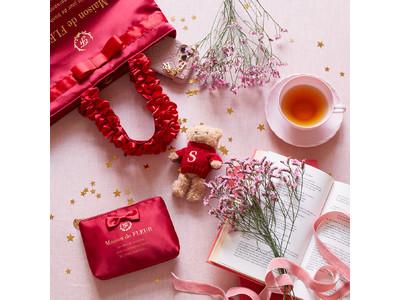 【Maison de FLEUR】チャームサイズのダブルリボントートバッグに願いを込めて…『おうちX'mas』を華やかに彩るクリスマスチャームが登場