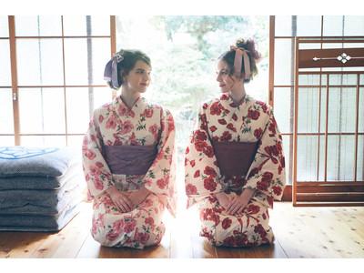 """Maison de FLEUR 2021年 YUKATA COLLECTION 初夏を告げる「コクリコ」(ひなげし)の浴衣を発売 ~神田沙也加さんが手掛ける""""果音""""からは林檎飴モチーフの浴衣が登場~"""
