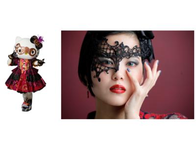サンリオピューロランドハロウィン衣装のキャラクターをイメージしたハロウィンメークを開発