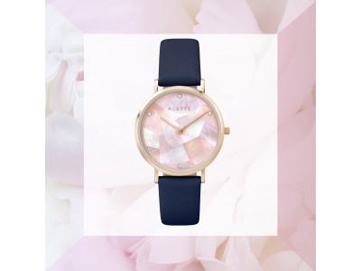 ジュエリーウォッチブランド「ALETTE BLANC(アレットブラン)」からステンドグラスのような色使いが新鮮なパール時計の新色が登場